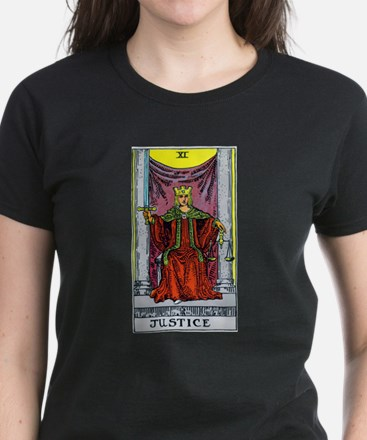 """Justice"" Women's Dark T-Shirt"