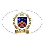 GRONDIN Family Crest Oval Sticker