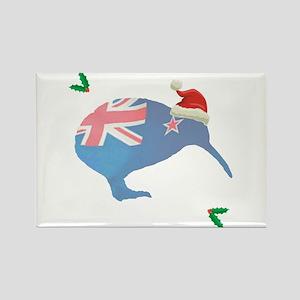 Christmas Kiwi Rectangle Magnet