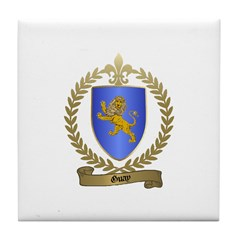 GUAY Family Crest Tile Coaster