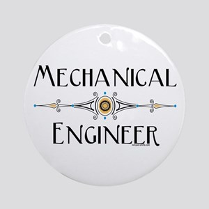 Mechanical Engineer Line Ornament (Round)