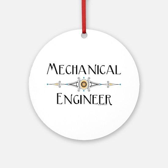 Mechanical Engineer Line Ornament (Round)