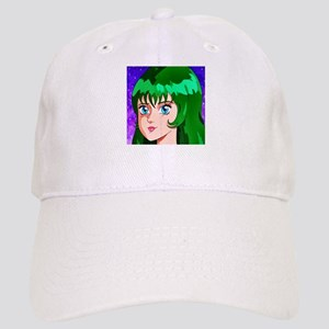 Green Haired Space Girl Cap