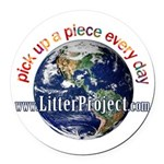 Litter Project Round Car Magnet