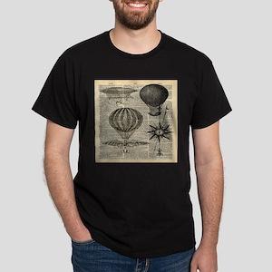 steampunk plane hot air balloon T-Shirt