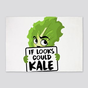 If Looks Could Kale Kale Art for Ve 5'x7'Area Rug