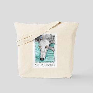 Greyhound Adoption Prayer Tote Bag