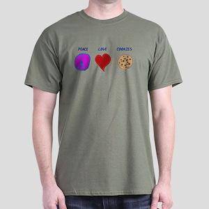 Peace Love & cookies Dark T-Shirt
