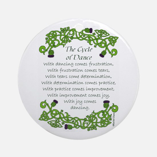 The Cycle of Dance Ornament (Round)