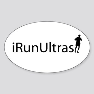 iRunUltras Oval Sticker