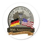 Berlin Wall 30 Year Anniversary Round Car Magnet