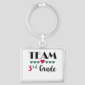 Team 3rd Grade Teacher Shirts B Landscape Keychain