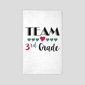 Team 3rd Grade Teacher Shirts Back to Sch Area Rug