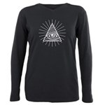 Illuminati Confirmed Plus Size Long Sleeve Tee