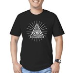 Illuminati Confirmed Men's Fitted T-Shirt (dark)