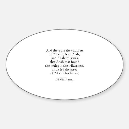 GENESIS 36:24 Oval Decal