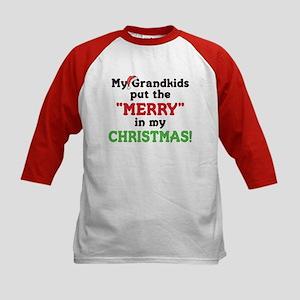 GRANDKIDS PUT MERRY IN CHRISTMAS Kids Baseball Jer
