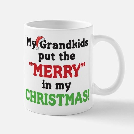GRANDKIDS PUT MERRY IN CHRISTMAS Mug