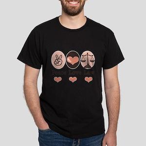 Peace Love Law School Lawyer T-Shirt