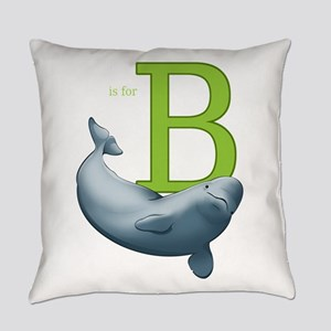 B is for Beluga Everyday Pillow