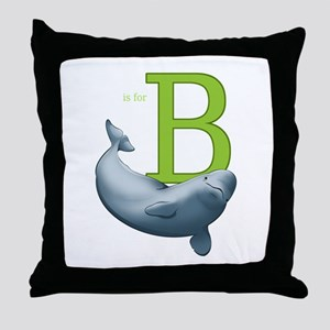 B is for Beluga Throw Pillow