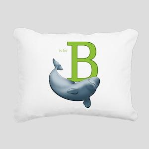 B is for Beluga Rectangular Canvas Pillow