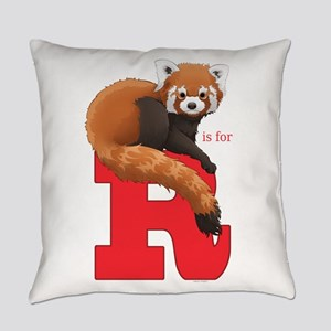 R is for Red Panda Everyday Pillow