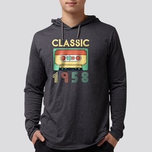 Classic 1958 Mixtape Cassette Long Sleeve T-Shirt