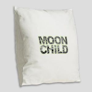 Moon Child Burlap Throw Pillow