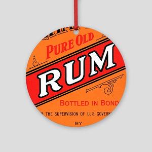Rum Label Keepsake (Round)
