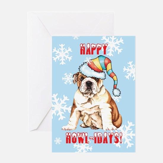 Holiday Bulldog Greeting Card