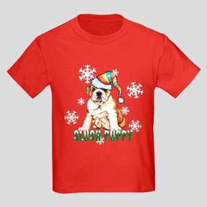 Holiday Bulldog Kids Dark T-Shirt