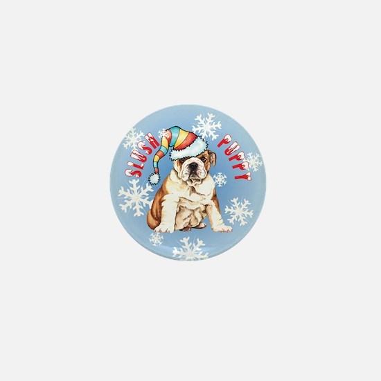 Holiday Bulldog Mini Button