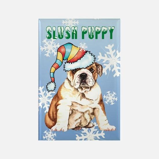 Holiday Bulldog Rectangle Magnet