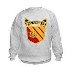 USS GRIDLEY Kids Sweatshirt