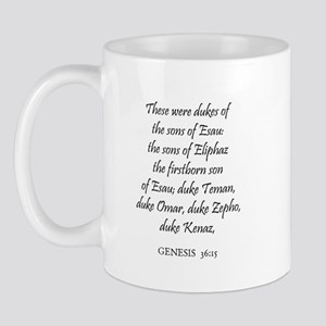 GENESIS  36:15 Mug