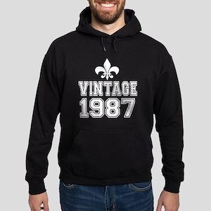 Vintage 1987 Birthday Designs Hoodie (dark)