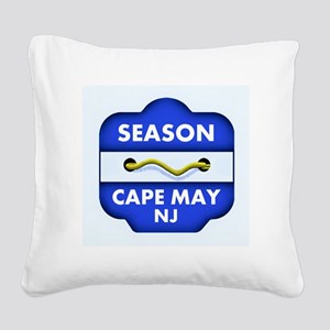 Cape May NJ Square Canvas Pillow