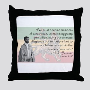 Haile Selassie Throw Pillow