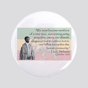 """Haile Selassie 3.5"""" Button"""