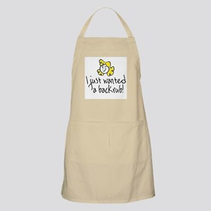 blonde back rub BBQ Apron