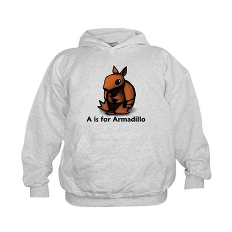 A is for Armadillo Kids Hoodie