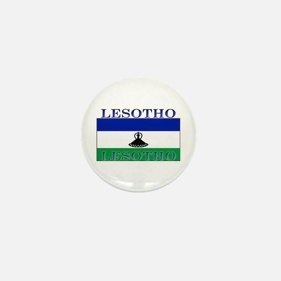 Lesotho Flag Mini Button