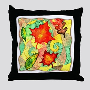 Autumn Wind Watercolor Throw Pillow