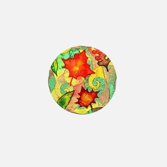 Autumn Wind Watercolor Mini Button