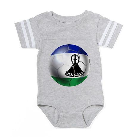 302427505 CafePress Soccer Ball Baby Football Bodysuit