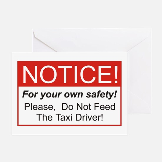 Notice / Taxi Driver Greeting Card