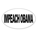 Impeach Obama (L) Oval Sticker (10 pk)