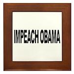 Impeach Obama (L) Framed Tile