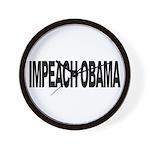 Impeach Obama (L) Wall Clock